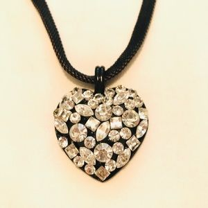 Cookie Lee crystal heart necklace